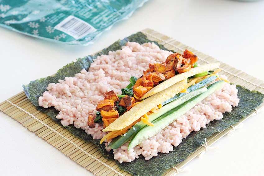nasi merah kimbab resep 1