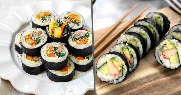 perbedaan sushi dan kimbab kimbap